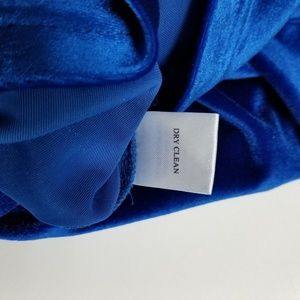 amelia Dresses - NEW Amelia Bright Sapphire Blue Long Velvet Dress